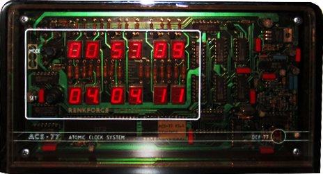 Ansicht der Funkuhr