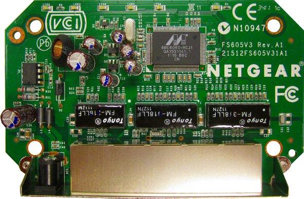 Netgear FS605 Innenansicht