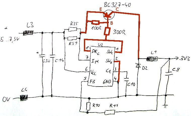 FS605 Schaltplan USB-Versorgung
