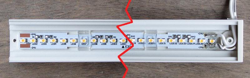 Innenansicht der OMLOP-LED-Leisten