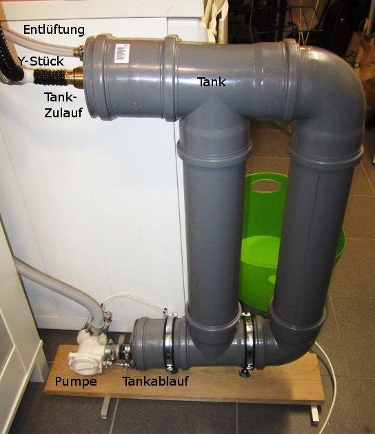 Tank zur Abwasser-Wärmerückgewinnung