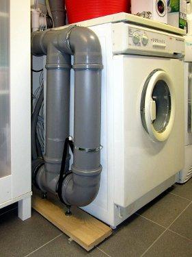 Gesamtanordnung mit Waschmaschine