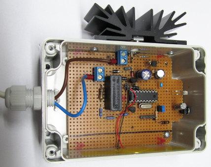 Die Lochrasterplatte des Prototyps