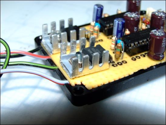 Fertig aufgebaute Elektronik von Andre