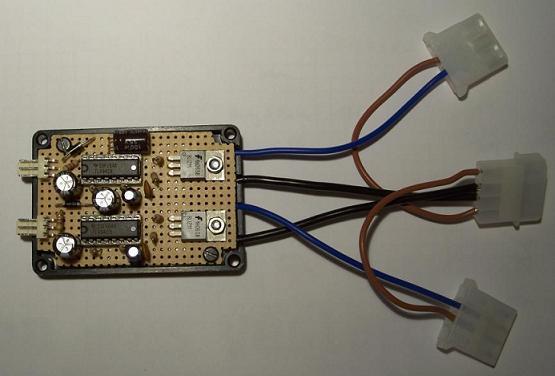 Fertig aufgebaute Elektronik