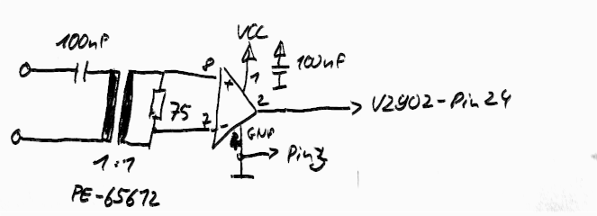 PCB SPDIF-Input PCM2902