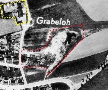 Luftbild 1969 mit Deponie