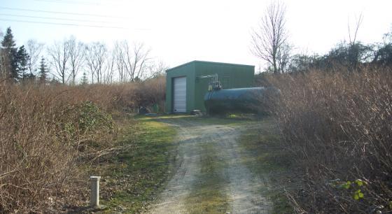 Pumpstation im Steinbruch